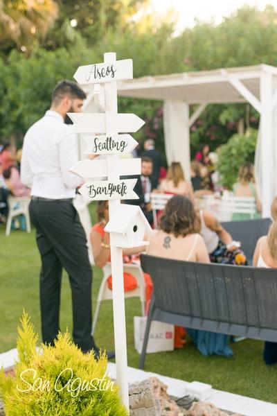 señalización detalles de boda